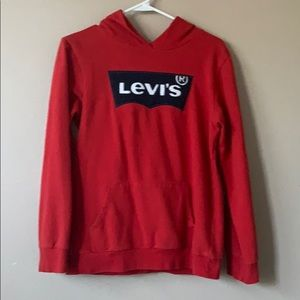 red Levi's sweatshirt